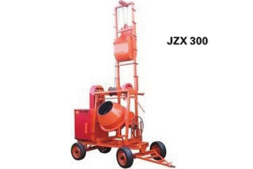 Portable Concrete Mixer with Lift
